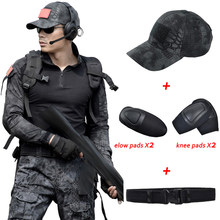 a989f9bf2b73 Uniforme Uomini Militar Tactical Caccia Abbigliamento Pitone Nero Vestiti  Da Caccia Camuffamento Donne Esercito Combattimento Mu.