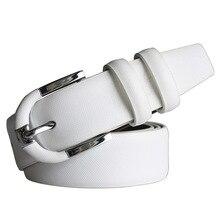 קידום הגעה חדשה חגורת עור אמיתית נשים לבנה עם סיכה מזדמן אבזמי חגורות מעצב גברים באיכות גבוהה משלוח חינם