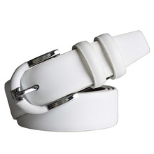 Cinturón de piel auténtica con hebillas para hombre y mujer, color blanco, informal, envío gratis