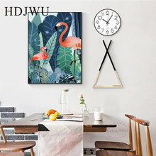 Nordic Canvas Printing Wall posters Art Home tropical Plant Leaf Flamingo decoration painting for Living Room  DJ200