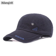 XdanqinX 100% Cotton Baseball Caps Men's Letter Embroidery Sports Cap Snapback Cap Adjustable Size Male Bone Fashion Tongue Cap стоимость