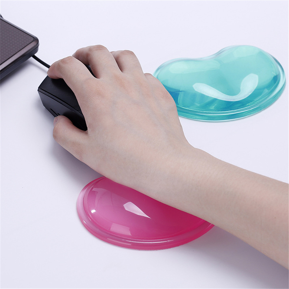 Quality Wavy Comfort Gel Computer Mouse Hand Wrist Rests Support Cushion Pad,Fashion Silicone Heart-shaped Wrist Pad