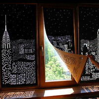 Blackout HoleRoll Curtains With Holes Incredible City Designs Curtain For Bedroom Living Room Blind Modern Blackout Curtain