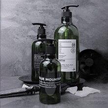 Пластиковая бутылка для хранения шампуня для ванной, зеленая жидкость, скандинавский лосьон, распылитель, бутылка для хранения, органайзер для путешествий, Декор
