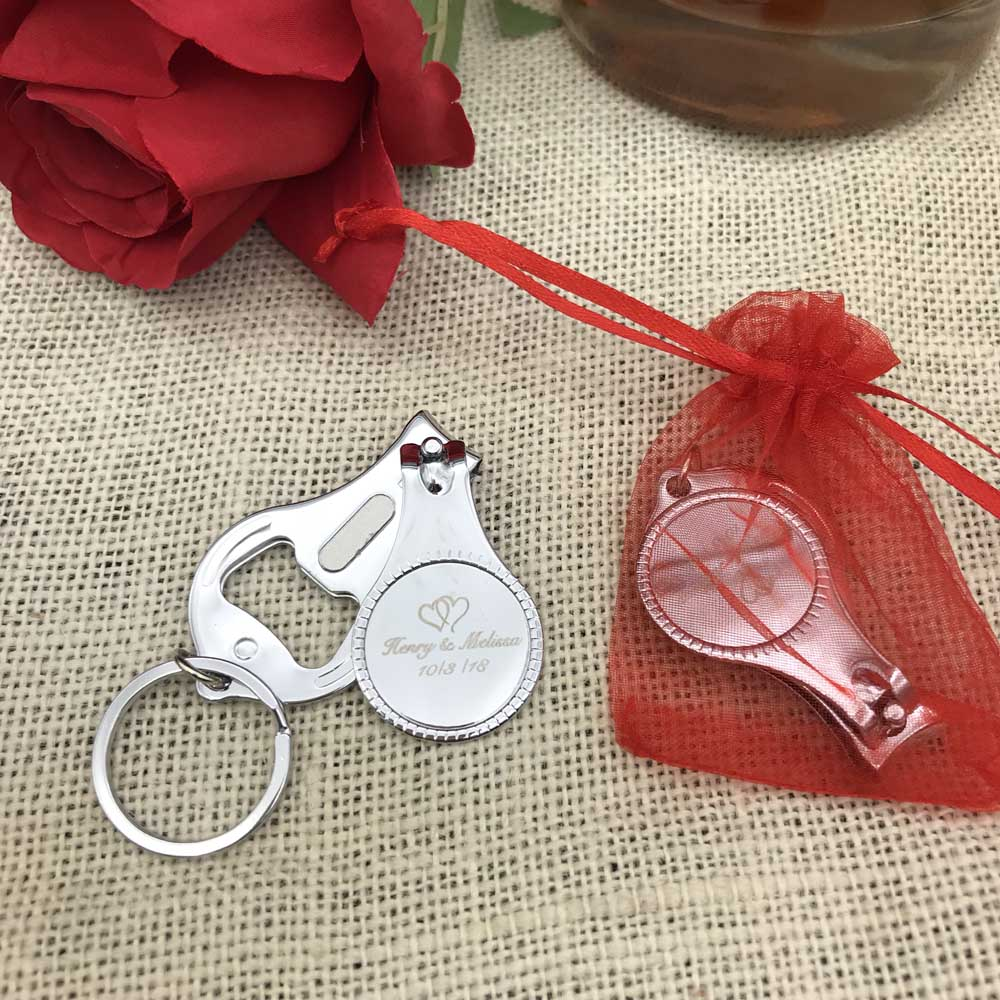 Image 2 - #ZJD50Pcs Personalized Wedding Souvenirs For Guests Customized  Wedding Favors Multifunctional Wine Opener/Keychain/Nail  Clipperssouvenir for guestssouvenirs for weddingsouvenir wedding -