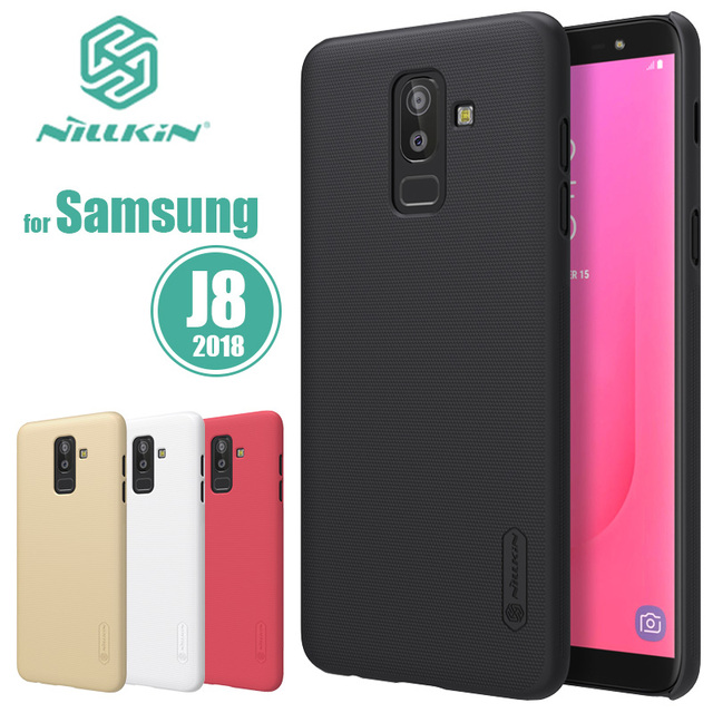 online store a8722 36c43 US $8.41  for Samsung Galaxy J8 2018 Case Nillkin Super Frosted Shield  Plain Hard Back PC Cover for Samsung J8 2018 Nilkin Phone Case Capa-in ...