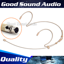 Free Shipping Flesh Color Mini XLR TA4F 4Pin Connector Plug Headworn Headset Microphone For Shure Wireless BodyPack Transmitter skin color mini xlr 4 pin ta4f wired single earhook condenser headset microphone for shure wireless system bodypack transmitter