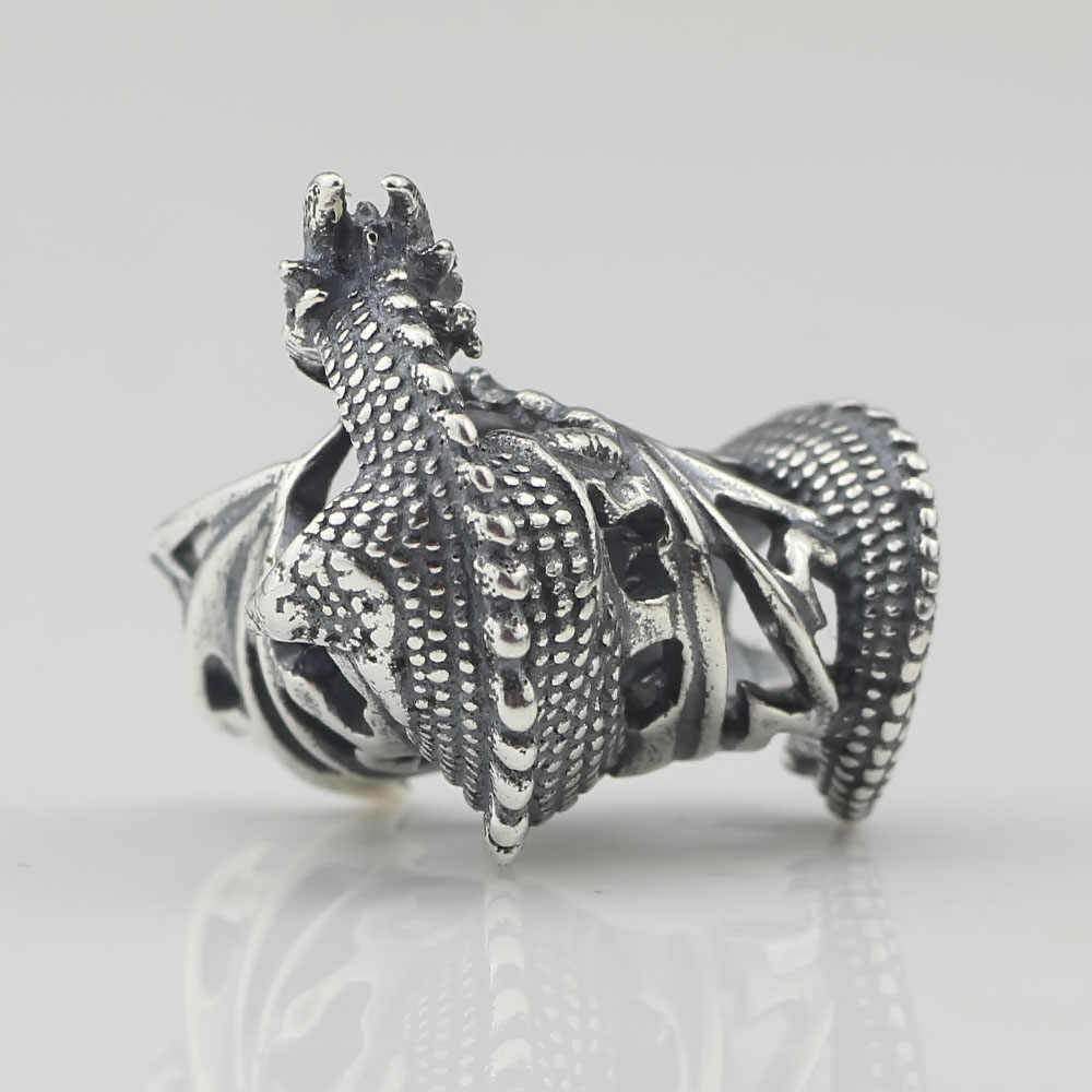 2c72f1782 ... Ice Fire Dragon Beads Antique 925 Sterling Silver Charms Fit DIY Woman  Original European Style Bracelet ...