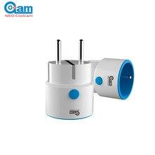 НЕО Coolcam NAS-WR01ZE Z-Wave ЕС Smart Power Plug Разъем домашней автоматизации сигнализация дома
