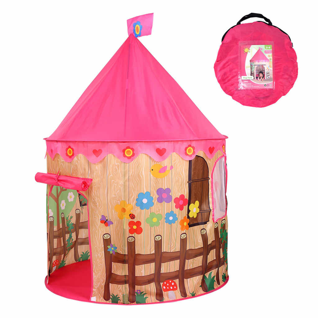 折りたたみ子供防水ポップアップテント少年少女ピンクハウスとプール子供屋外キャンプサンシェードビーチおもちゃの家