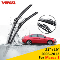 YIKA 21 19 For Mazda 3 2006 2012 Windscreen Wipers Car Glass Wiper Rubber Windshield Blades