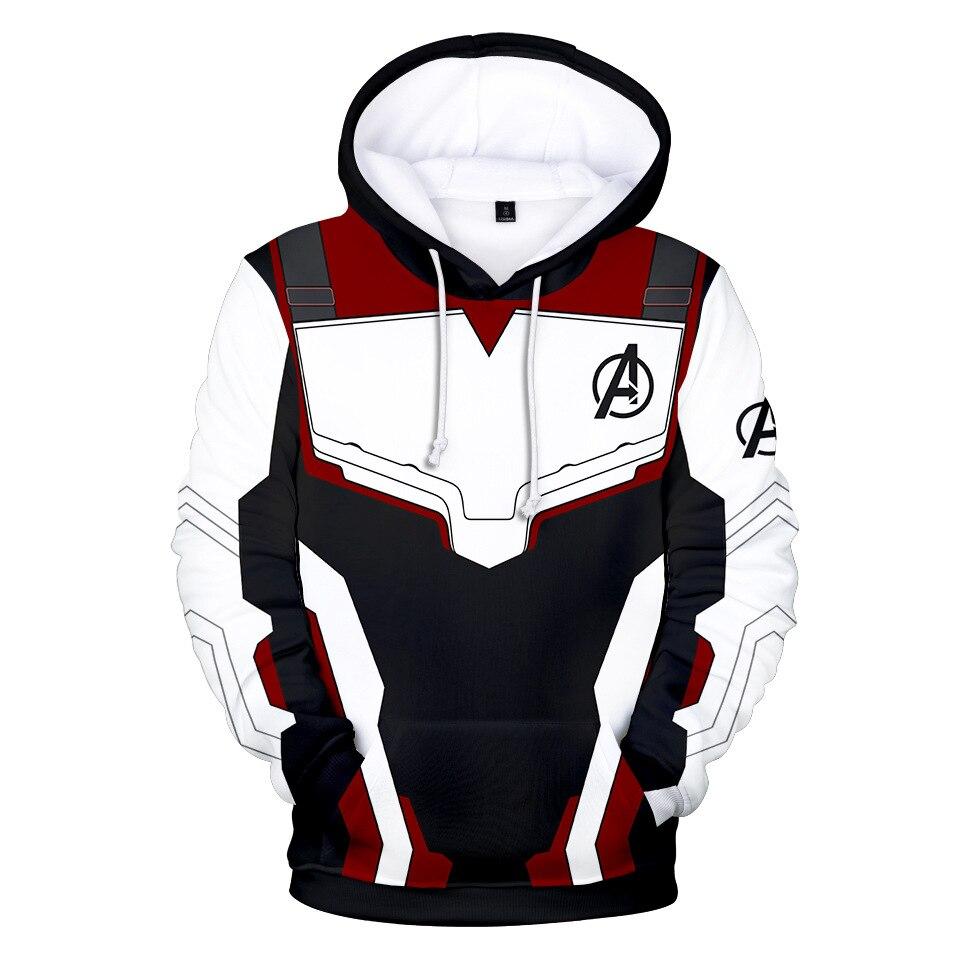New Avengers Endgame Quantum Realm Sweatshirt SETS Jacket Hoodie Hooded Casual Coat Cosplay Costumes 3D Printed Jacket