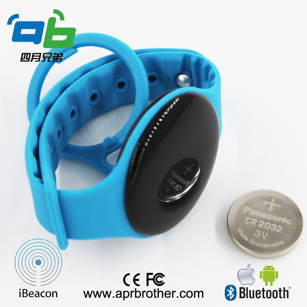 Wristband Ibeacon wearable bluetooth base station for indoor navigation bluetooth 4 0 dialog 14580 chipset high quality wristband ibeacon module