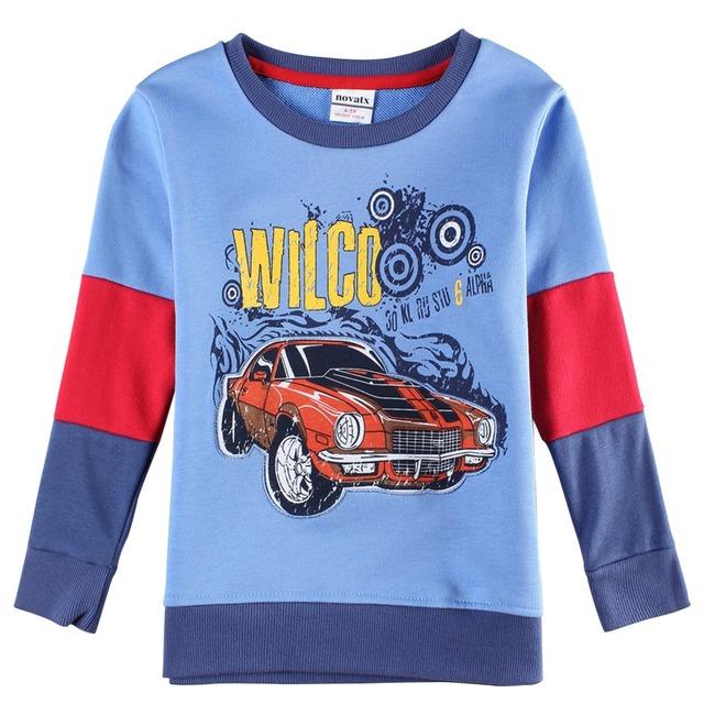 Nova onetoo 1-6y meninos t-shirt dos miúdos t-shirt do bebê camisas menino jaqueta blusa cardigan crianças camisola de manga comprida 100% algodão carros