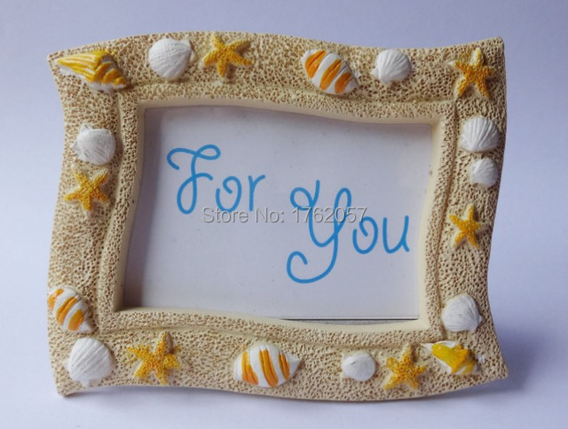 Seaside Sand And Shell Place Card Holderphoto Frame Favors For
