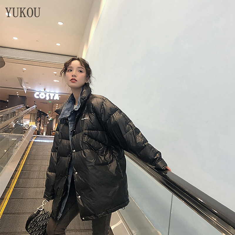 Women Duck   Down     Coats   Long 2019 Fashion Female High Quality White Duck   Down   Jacket Loose Version Keep Warm Best Sellers H009