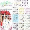 Beautynailart 90 UNIDS/LOTE BLE1676-1686 Tips Nail Art White Swan Mullido Pluma de Transferencia de Agua Decal Stickers