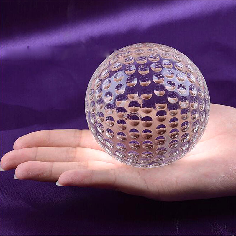 Huge Size Clear Crystal Glass Golf Ball Asian Quartz Sphere Home Decor Ornaments Fengshui Crafts Figurines Sports Souvenir Gifts