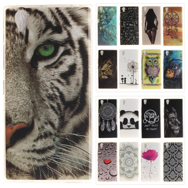 Vintage Phone Case For Lenovo Lenovo P70-a Coque Silicone Tiger Lion Panda Floral Soft TPU Back Cover For Lenovo P70 P70A P70T