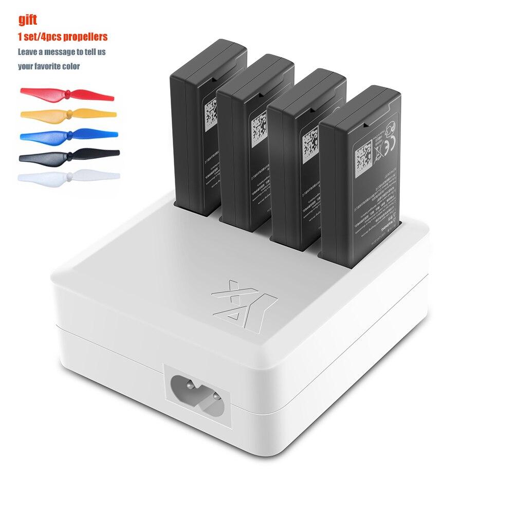 TELLO Charger 4in1 Multi Battery Charging Hub for DJI TELLO 1100mAh Drone Intelligent Flight Battery Quick Charging USEU Plug
