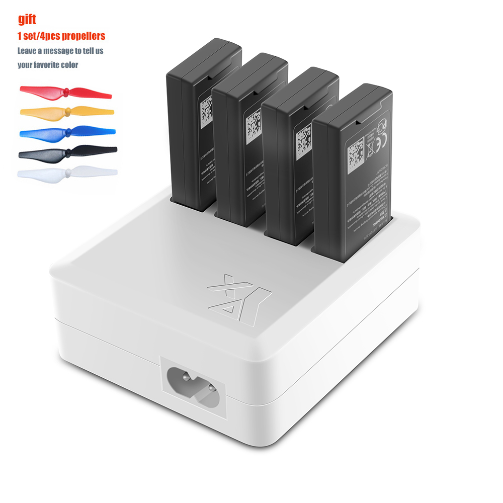 TELLO Charger 4in1 Multi Battery Charging Hub for DJI TELLO 1100mAh Drone Intelligent Flight Battery Quick Charging US/EU Plug tello battery charging hub designed for use with tello flight batteries accommodate up to 3 tello batteries at the same time
