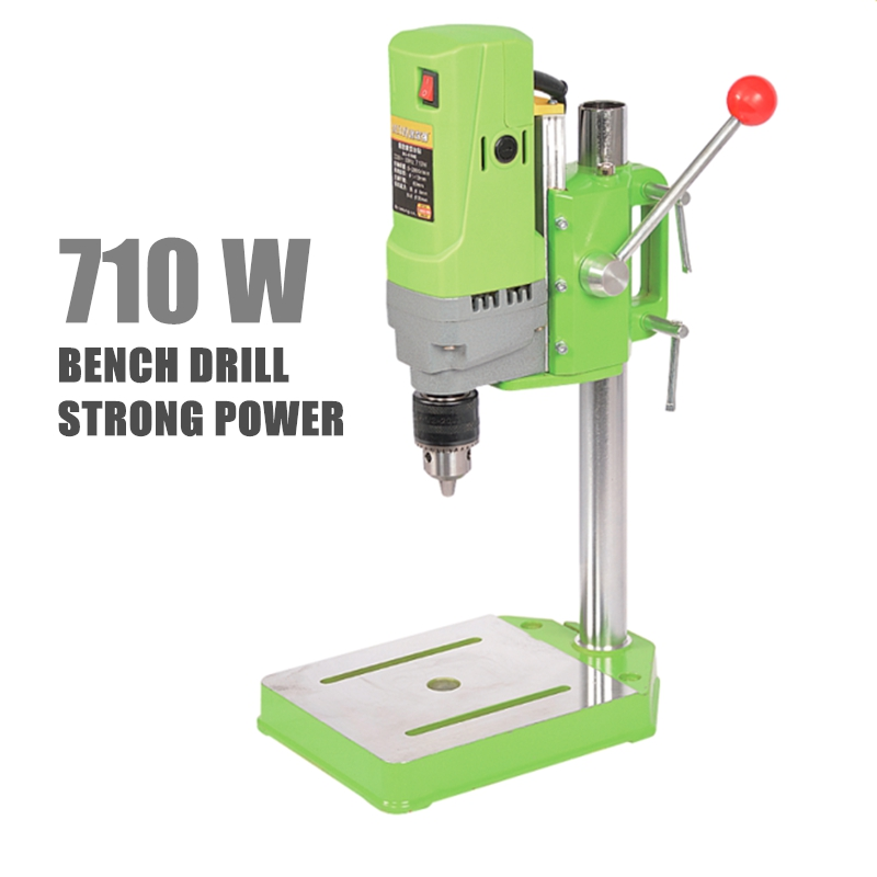 Mini Bench Drill Power Electric Drill For Easy Milling Machine 220v 710w 13mm Drill Chuck crazy power 2 13mm keyless mount spanner drill chuck 1 2 20unf with apaptor for electric drills power tools accessories amk004