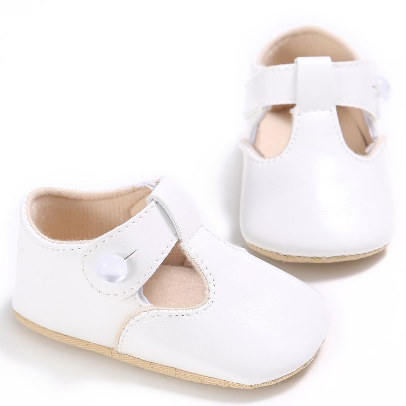 Toddlers Baby Crib Shoes Girl PU Leather Casual First Walkers Kids 0-18 Months 5 Colors