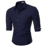 Men Shirts Slim Fit Mens Dress Cuff Printing Shirts Male Clothes Social Casual Shirt Men Brand