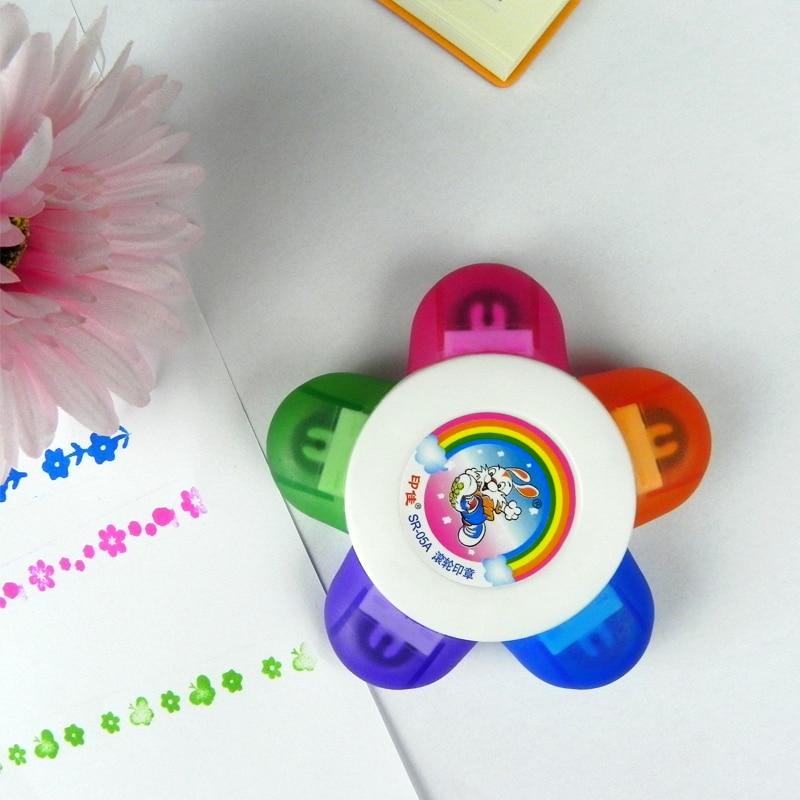 1pcs Kids Colorful Cartoon Scroll Stamp Toy Set Children Kids DIY Finger Painting Drawing Tool