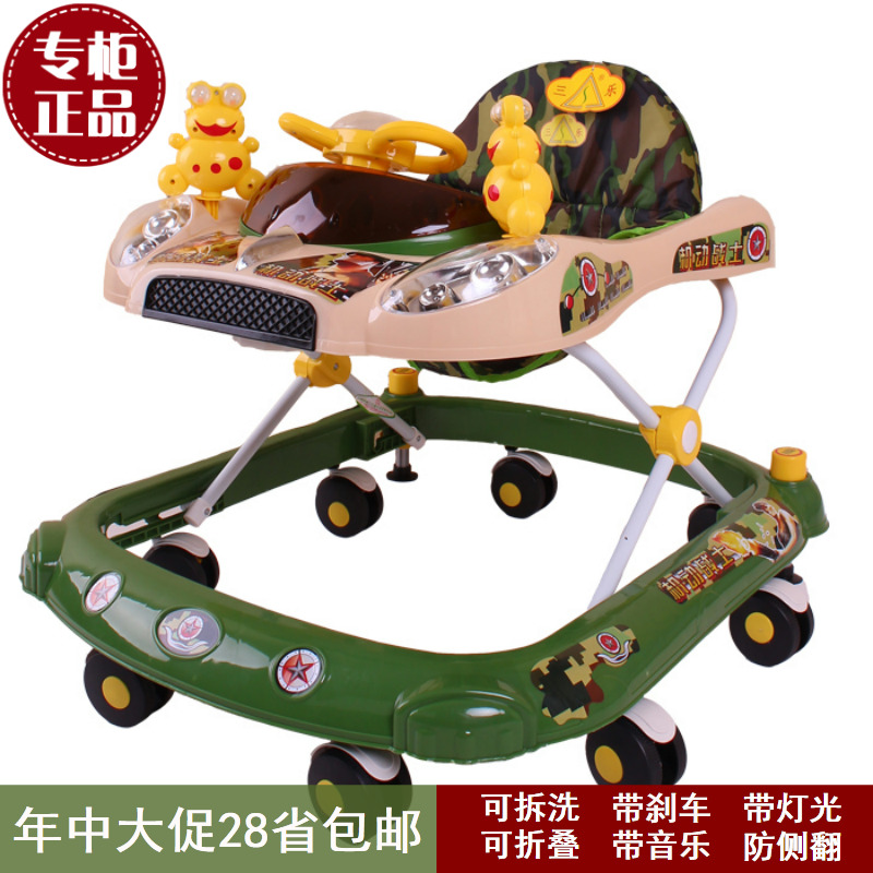 2015 first walker infant baby walkers cart multifunctional folding toy music foldable christmas gifts