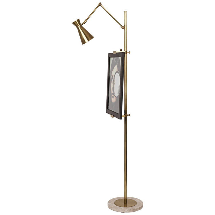 Phube Lighting Modern Floor Lamp Easel Chrome Floor Lamp Light Gold Study Room Living Room Floor Lamp Lighting modern 9w 12w 15w led floor lamp remote dimmable stand lights living room piano reading standing lighting led floor lighting