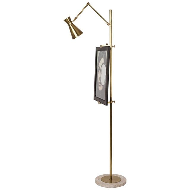 Phube Lighting Modern Floor Lamp Easel Chrome Light Gold Study Room Living