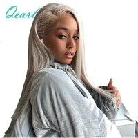 #60 платиновый блондин шелковистые прямые Full Lace натуральные волосы парики 130% плотность предварительно сорвал бразильский Волосы remy парик
