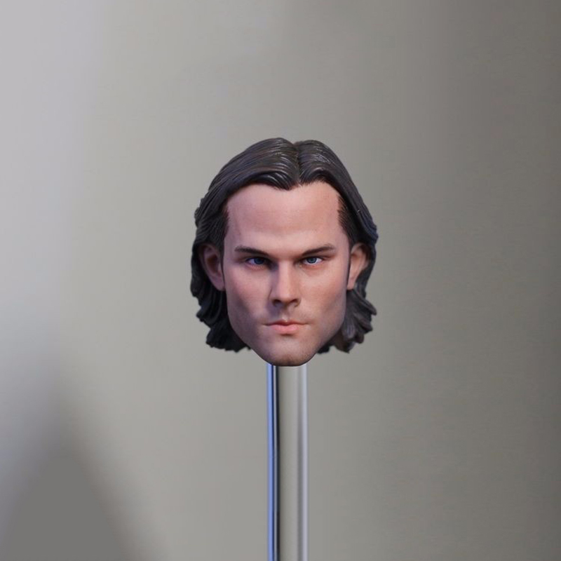 1/6 Scale Male Head Sculpt Model Toys Supernatural Sam Winchester Jared Padalecki For 12 Action Figure Body Toys Freeshipping zobairou hot design suede ankle riding boots women western cowboy shoes woman fashion real genuine leather dicker boots 34 41