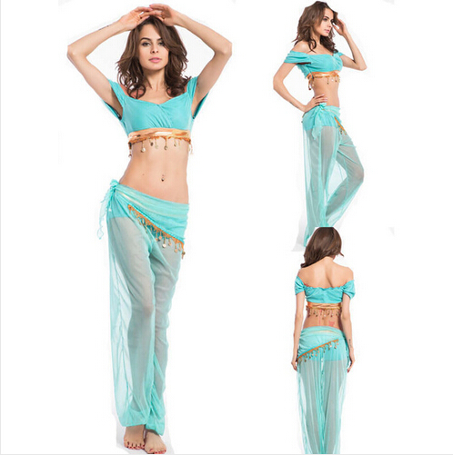 FREE SHIPPING! Women Sexy clothing set 2015 Fashion New Genie Halloween Costume Belly Dancer