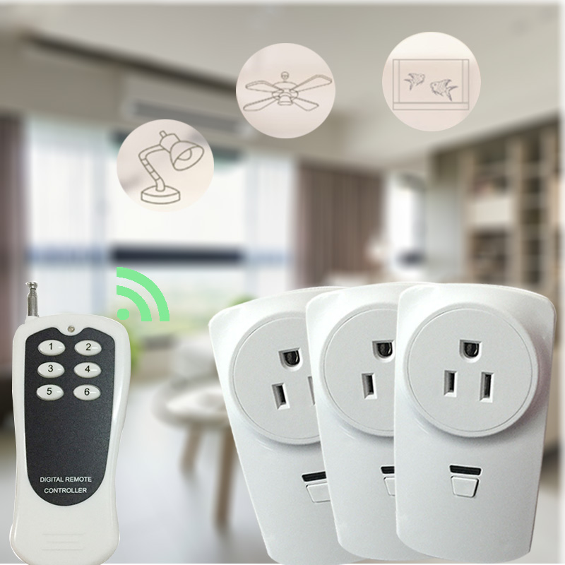 Universal US socket Indoor remote control controller outlet plug Wireless remote rf learning power socket plug for smart home