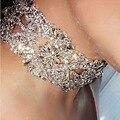 Strass grande colar de flores de cristal colar colar gargantilha declaração do vintage mulheres maxi colares Da Jóia do pescoço bib collier