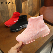 2019 spring new flying woven childrens socks shoes boys knitted girls stretch casual sports