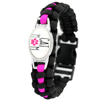 Cats Dogs Mom Outdoor Survival Paracord Charm Bracelets 25*18mm Glass Cabochon Men Women Unisex Lover's Hiking Camping Gift 1