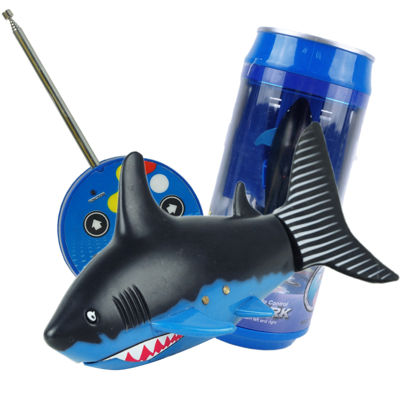 Birthday Gift For Boys Girls Radio Remote Control RC Coke Can Mini Shark Fish Toys Children Kids Electric Plastic Water Game Toy