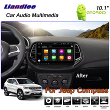 Liandlee Android 8 UP For Jeep Compass 2016~2019 Stereo Car Radio Carplay Camera Wifi GPS Map Navi Navigation System No CD DVD(China)