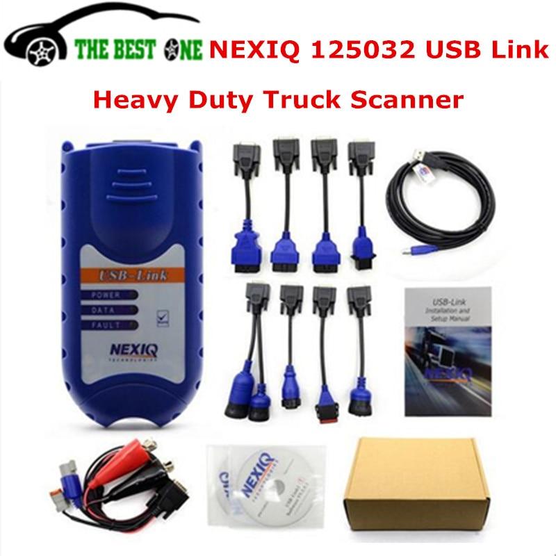 Цена за Самые низкие цены NEXIQ 125032 USB Link диагностический инструмент сканер для Heavy Duty Diesel Truck лучше, чем DPA5 Поддержка J1850 DHL Бесплатная