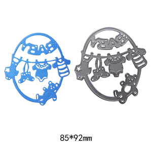 Cute Baby Clothes Bear Metal Cutting Dies Embossing Template Stencils for DIY Scrapbook Album Frame Photo Cards Decor Crafts(China)