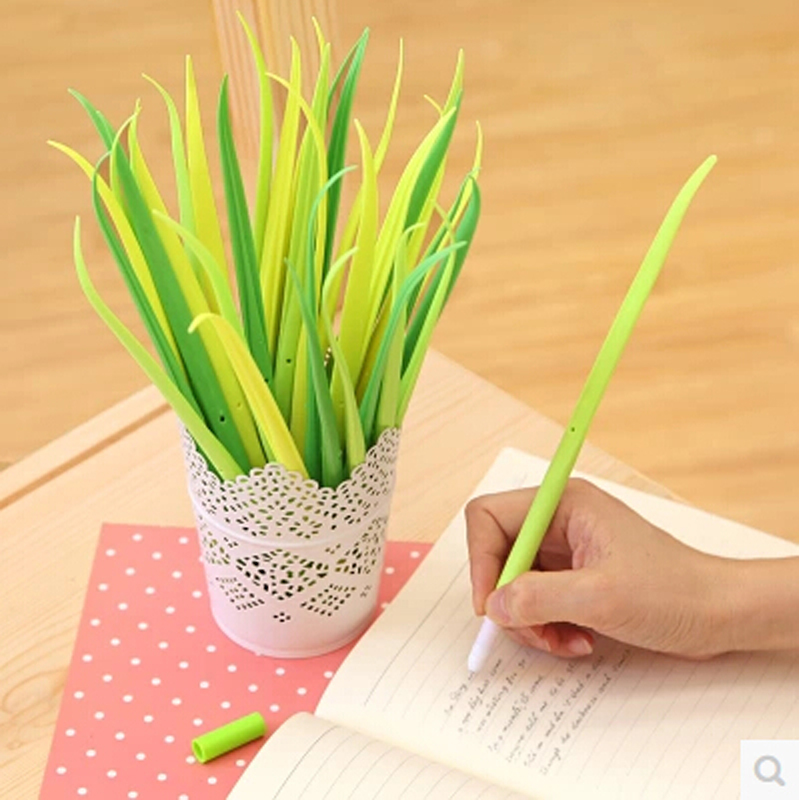12 pcs/lot kawaii grass gel pen cute pens for writing stationery school supplies papelaria pen free shipping 10pcs multicolor gel pens set cute korean stationery pen for school office supplies writing with packaged box by free shipping