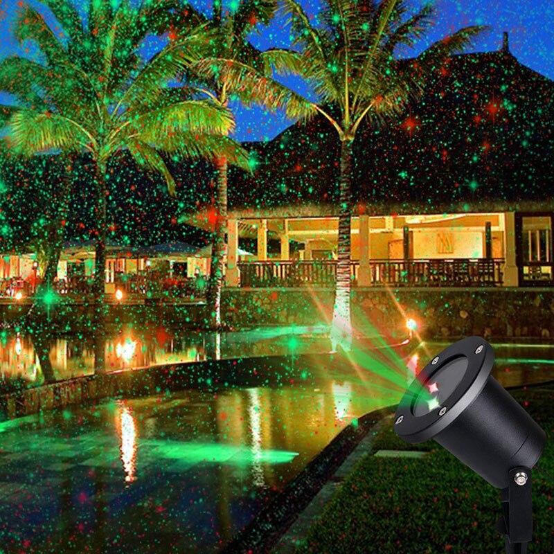 Outdoor Solar Luce Laser Lampada di Paesaggio Per Il Giardino Vacanze di Natale Decorazione Impermeabile Lampade Riflettore Del Proiettore della Stella 6