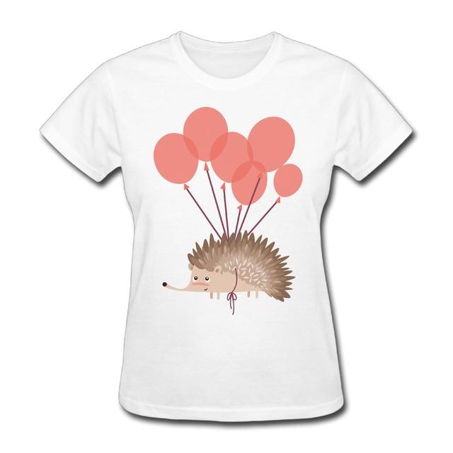 Women Anatomy Of A Hedgehog Printing Short Sleeve T Shirts Printed