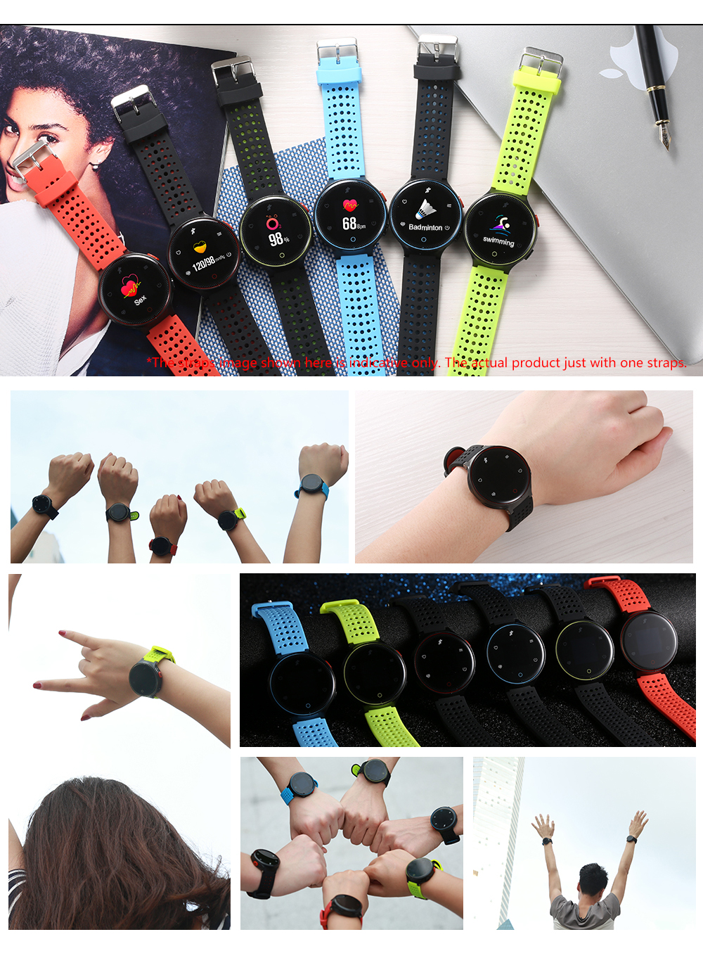 Waterproof Sports Smart Watch for Android