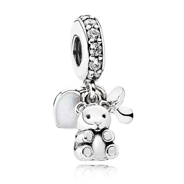 925 sterling silver bead charm baby treasures a pacifier with 925 sterling silver bead charm baby treasures a pacifier with crystal pendant beads fit pandora mozeypictures Gallery
