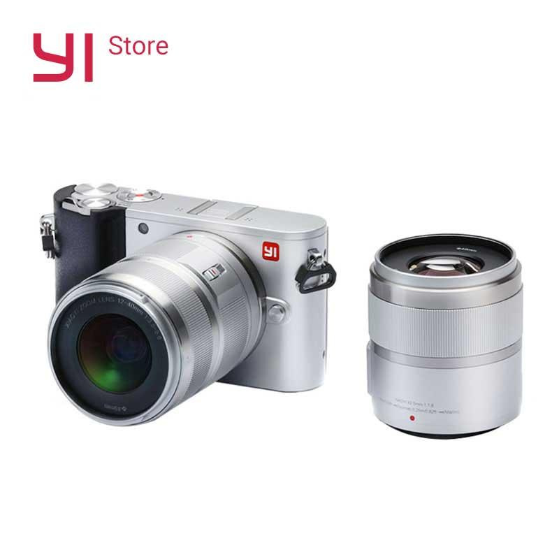 YI M1 Mirrorless Appareil Photo Numérique Premier Zoom Deux Lentille LCD Minimaliste BRUT 20MP Vidéo Enregistreur 720RGB International Version