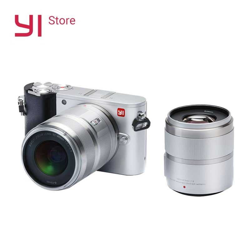 YI M1 Mirrorless Fotocamera Digitale Prime Zoom Due Lenti A CRISTALLI LIQUIDI di trasporto Minimalista GREZZO 20MP Video Recorder 720RGB Versione Internazionale